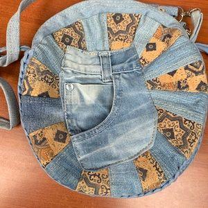 ✨💙 Unique Jean Cork Crossbody Bag 💙✨